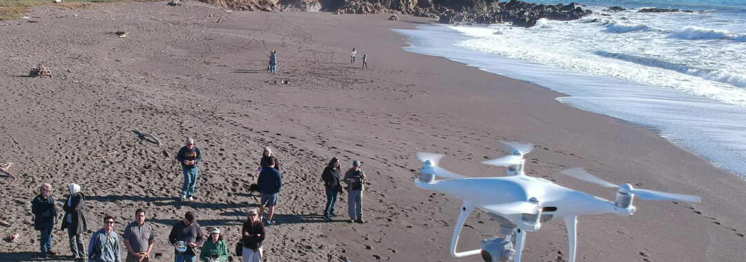 Jay Siedel instructs journalism faculty on use of UAVs/drones at the 2019 JACC Mid-Winter Conference in Cambria, California. (Curtis Corlew)